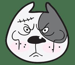 Funny pit bull head sticker #335133
