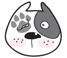 Funny pit bull head sticker #335136