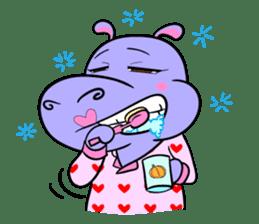 Tina : My naughty hippo sticker #335753