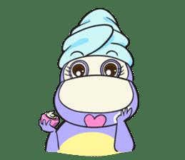 Tina : My naughty hippo sticker #335759
