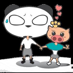 Hero Panda and Princess Pig