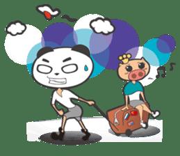 Hero Panda and Princess Pig sticker #336110