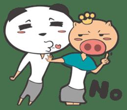 Hero Panda and Princess Pig sticker #336114