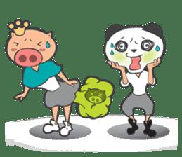 Hero Panda and Princess Pig sticker #336116
