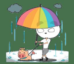 Hero Panda and Princess Pig sticker #336122