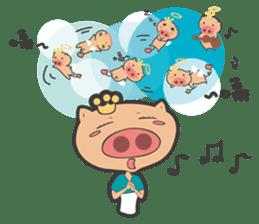 Hero Panda and Princess Pig sticker #336128