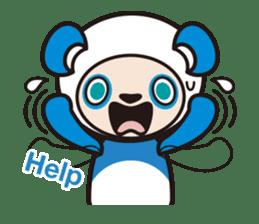 AQUA PANDA chari & chara sticker #340025