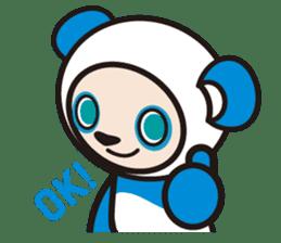 AQUA PANDA chari & chara sticker #340046
