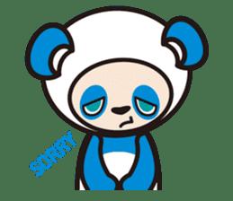 AQUA PANDA chari & chara sticker #340047