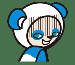 AQUA PANDA chari & chara sticker #340050