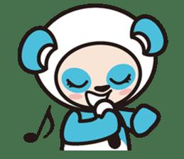AQUA PANDA chari & chara sticker #340055