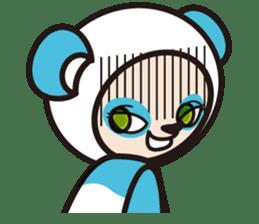 AQUA PANDA chari & chara sticker #340060