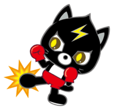 Fighting Cat sticker #342577