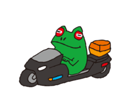 Bike & Frog sticker #344816