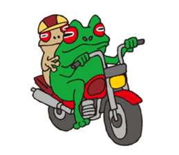 Bike & Frog sticker #344824