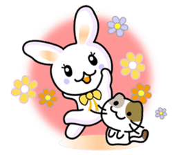 Rabbit&Cat(usa-thi&nya-tan) sticker #345225