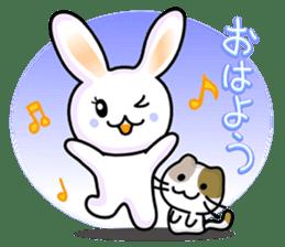 Rabbit&Cat(usa-thi&nya-tan) sticker #345226