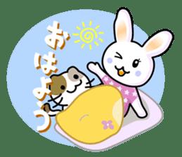 Rabbit&Cat(usa-thi&nya-tan) sticker #345234