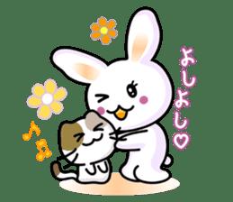 Rabbit&Cat(usa-thi&nya-tan) sticker #345251