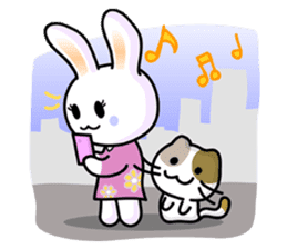 Rabbit&Cat(usa-thi&nya-tan) sticker #345252