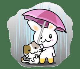 Rabbit&Cat(usa-thi&nya-tan) sticker #345261