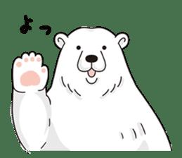 White bear sticker #347625