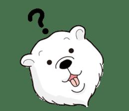 White bear sticker #347634