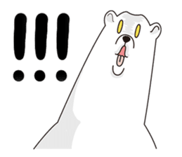 White bear sticker #347645