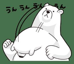 White bear sticker #347650