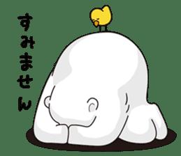 White bear sticker #347653
