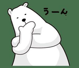 White bear sticker #347654