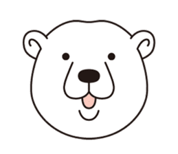 White bear sticker #347655
