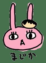 doughnut rabbit sticker #347906