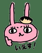 doughnut rabbit sticker #347907
