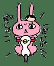 doughnut rabbit sticker #347917