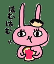 doughnut rabbit sticker #347920