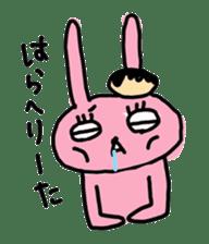 doughnut rabbit sticker #347921