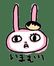 doughnut rabbit sticker #347925