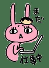 doughnut rabbit sticker #347926