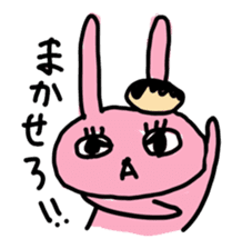 doughnut rabbit sticker #347927