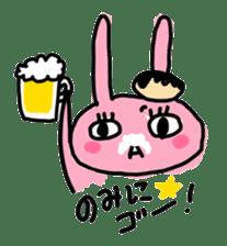 doughnut rabbit sticker #347931