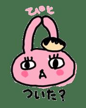 doughnut rabbit sticker #347942