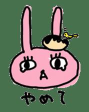 doughnut rabbit sticker #347943