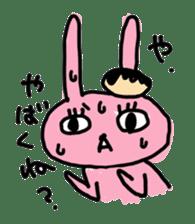 doughnut rabbit sticker #347944
