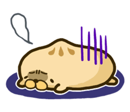 cute Steamed meat bun! sticker #348429
