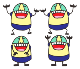 mini characters of Japan sticker #348505