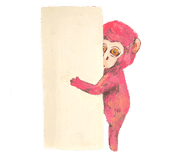 pink monkeys sticker #349145