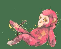 pink monkeys sticker #349150
