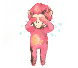 pink monkeys sticker #349151