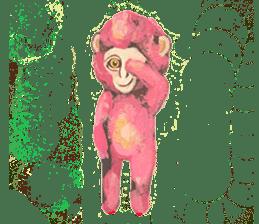 pink monkeys sticker #349152